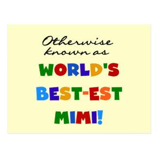 Si no conocido como regalos Mejor-est Mimi Tarjeta Postal