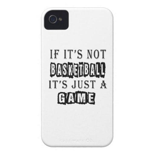 Si no es baloncesto es apenas un juego iPhone 4 fundas