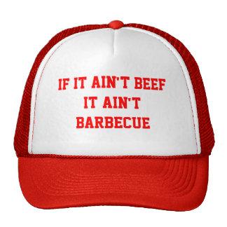 Si no es carne de vaca no es barbacoa gorras de camionero