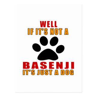 Si no es es apenas perro de BASENJI Postal