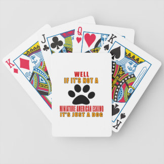 SI NO ES ESQUIMAL AMERICANO MINIATURA es APENAS A Baraja Cartas De Poker