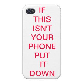 SI NO ES ESTO SU TELÉFONO LO PUSO ABAJO caso de Ip iPhone 4 Funda