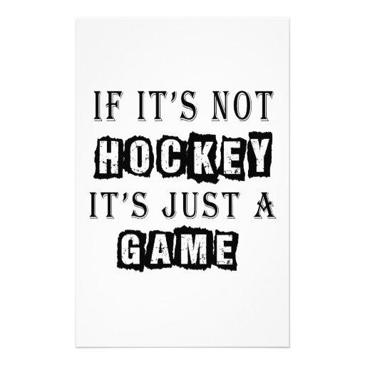 Si no es hockey es apenas un juego  papeleria