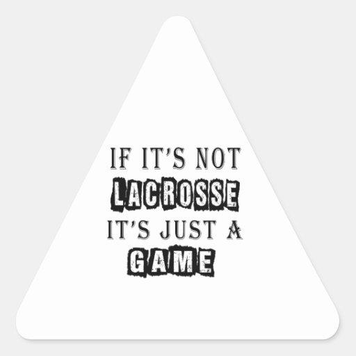 Si no es LaCrosse es apenas un juego Calcomania Triangulo Personalizadas