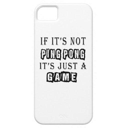 Si no es ping-pong es apenas un juego iPhone 5 carcasa