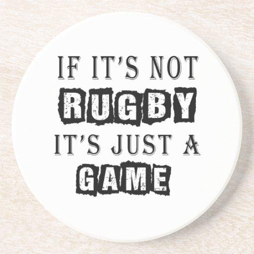Si no es rugbi es apenas un juego posavasos manualidades