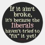 Si no es se rompió…. etiqueta redonda