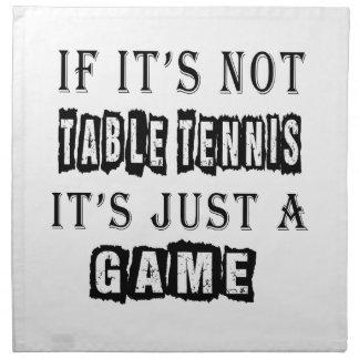 Si no es tenis de mesa es apenas un juego servilleta de papel