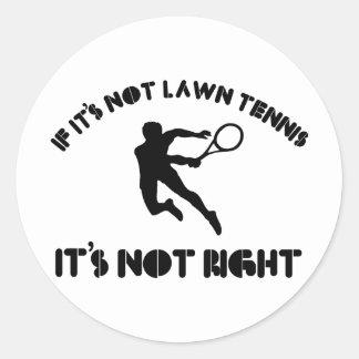 Si no es tenis sobre hierba correcto pegatinas redondas