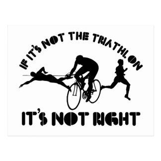 Si no es triathlon correcto postal
