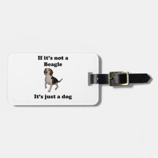 Si no es un beagle etiquetas maletas