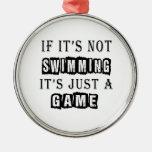 Si no está nadando es apenas un juego adornos