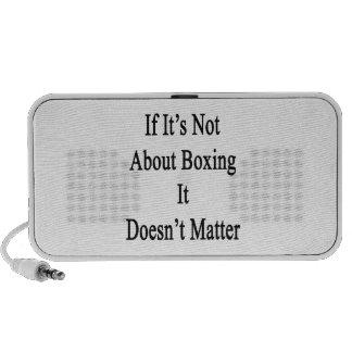 Si no está sobre el boxeo no importa altavoz de viaje