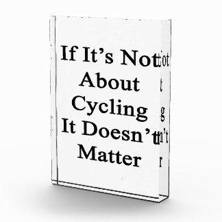 Si no está sobre el ciclo no importa