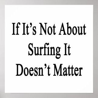 Si no está sobre practicar surf no importa impresiones