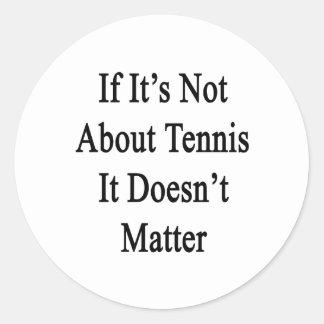 Si no está sobre tenis no importa pegatina redonda