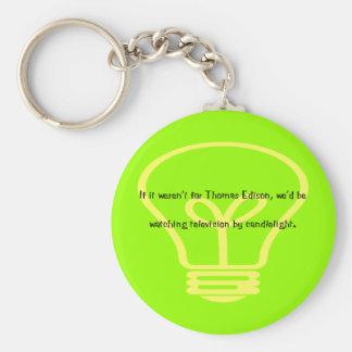 Si no estaba para Thomas Edison Llavero Redondo Tipo Pin