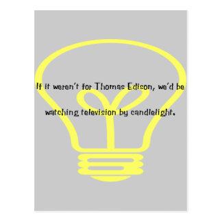 Si no estaba para Thomas Edison Tarjetas Postales