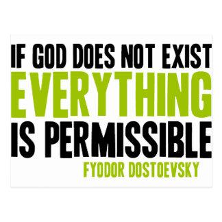 Si no existe dios todo es permitido postales