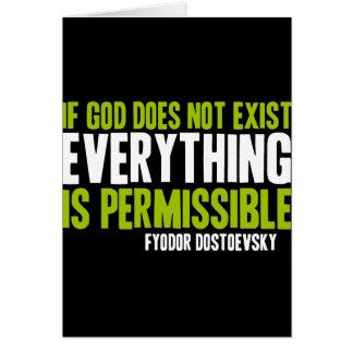 Si no existe dios todo es permitido tarjeta de felicitación