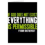Si no existe dios todo es permitido tarjetas