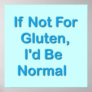 Si no para el gluten, sería normal impresiones