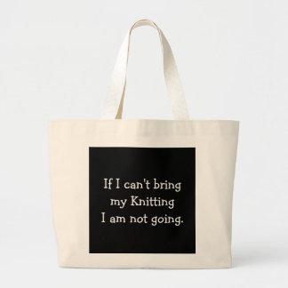 Si no puedo traer mi hacer punto… bolsa tela grande