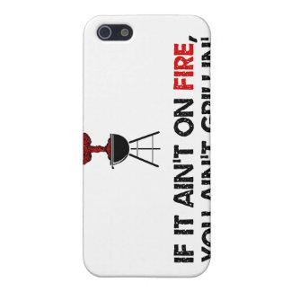Si no se arde usted no está asando a la parrilla iPhone 5 protector