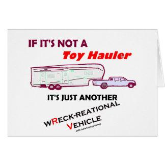 ¿Si no un transportista del juguete Felicitación