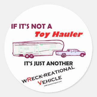 ¿Si no un transportista del juguete? Pegatina Redonda