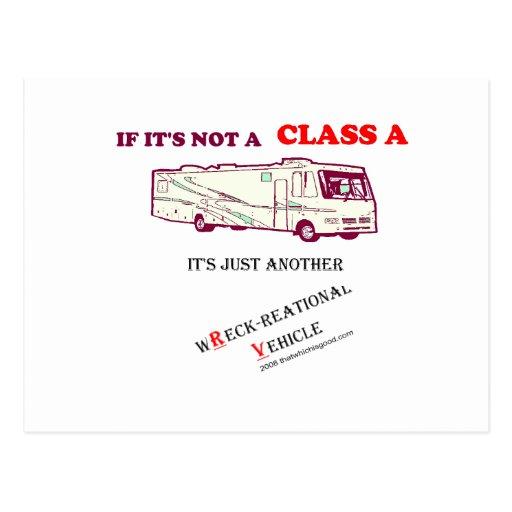 ¿Si no una clase A rv? Postales