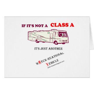 ¿Si no una clase A rv? Tarjeta De Felicitación