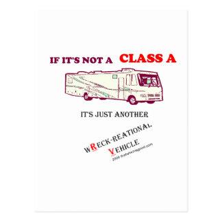 ¿Si no una clase A rv? Tarjeta Postal