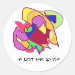 ¿Si no yo, quién? - Bosquejos abstractos Etiquetas Redondas