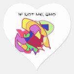 ¿Si no yo, quién? - Bosquejos abstractos Colcomanias De Corazon Personalizadas