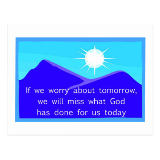Si nos preocupamos de decir cristiano de la mañana tarjeta postal