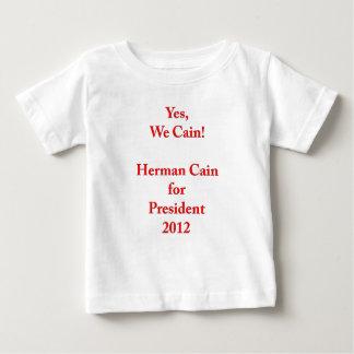 ¡Sí, nosotros Caín! Herman Caín para el presidente Playera