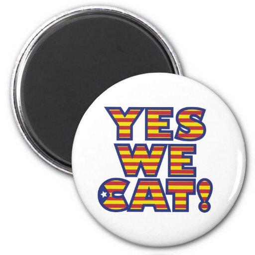 sí-nosotros-gato imán redondo 5 cm