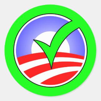 ¡Sí Obama! Pegatina Redonda