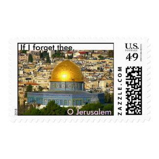 Si olvido thee, O Jerusalén Estampilla