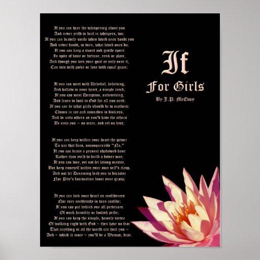 Si para el poema de los chicas de J.P. McEvoy Prin Posters