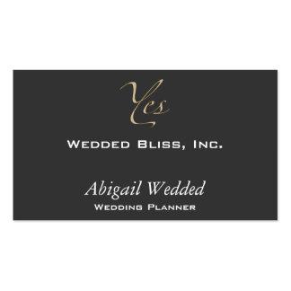 Sí - planificador del boda plantillas de tarjetas de visita