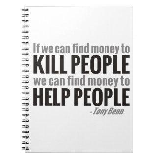 Si podemos encontrar el dinero para matar a gente… libreta
