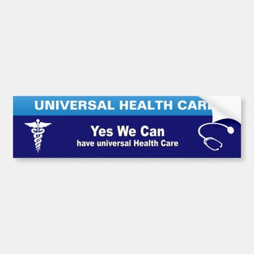 Sí podemos tener atención sanitaria universal pegatina de parachoque