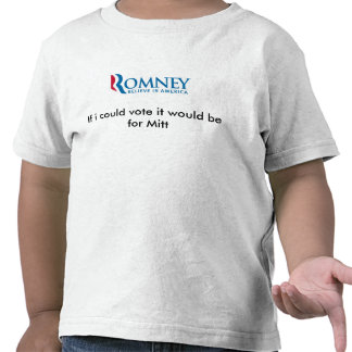 Si podría votar estaría para Mitt Romney Camisetas