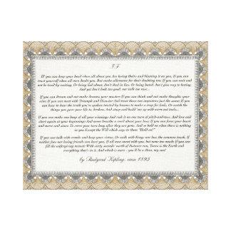 Si poema de Rudyard Kipling Impresion En Lona