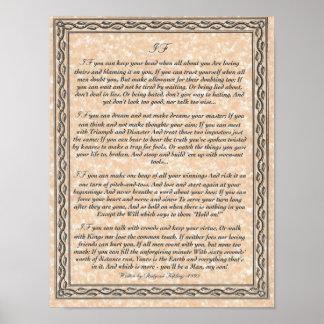 SI poema inspirador para los hombres jovenes de Ru Póster
