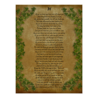 Si poesía inspirada de Rudyard Kipling Poster