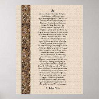 Si poesía inspirada de Rudyard Kipling Póster