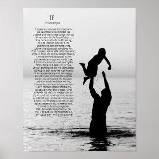 Si por el poster 11 x 14 de Rudyard Kipling